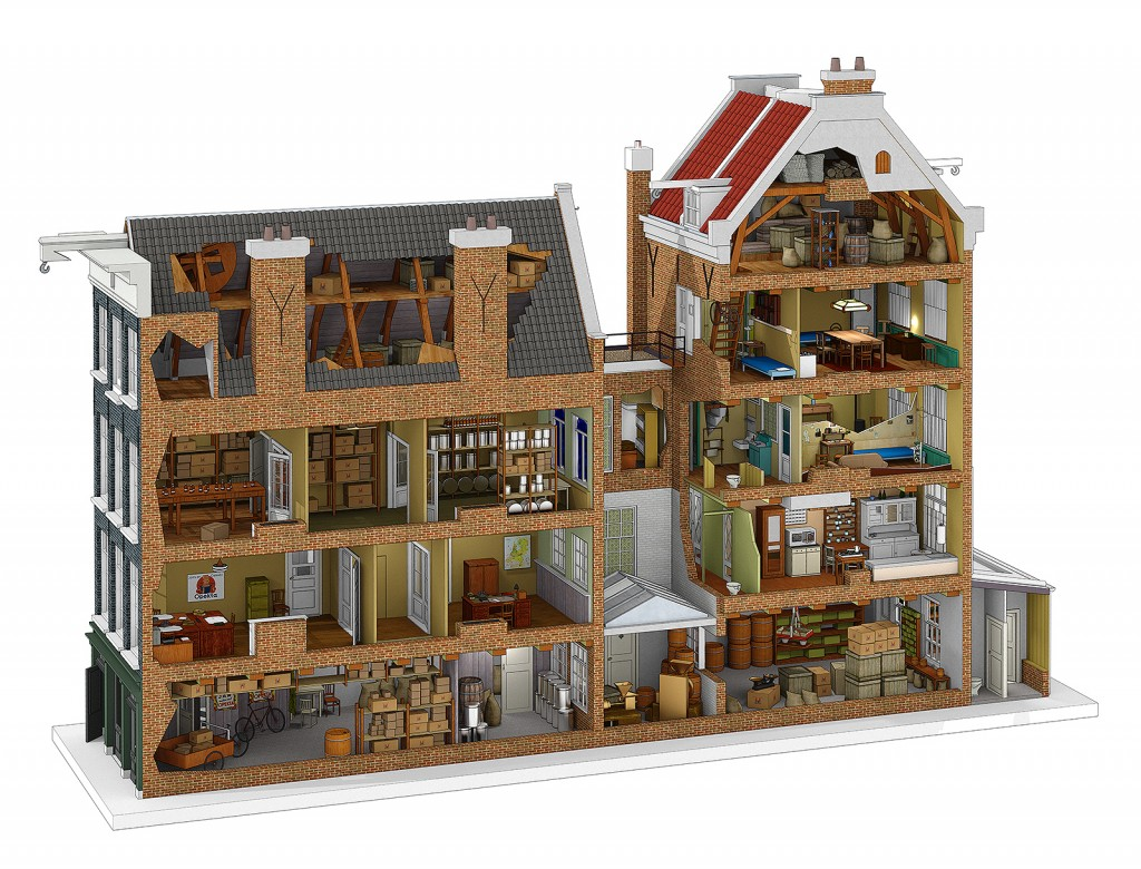 Historical reconstruction Anne Frank House - Vizualism