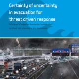 Certainty of uncertainty in evacuation for threat driven response