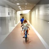 Rushing through world's largest bike parking garage