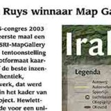 Frédérik Ruys winnaar Map Gallery 2003