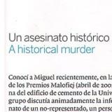 Gráfico dedicado al Urabayen: Un asesinato histórico
